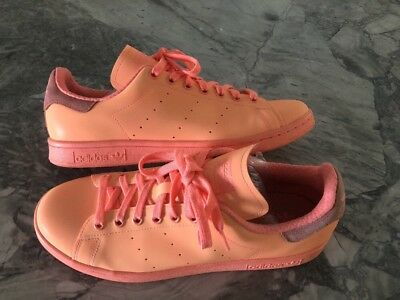 ddfb1e99803 Adidas Adicolor Stan Smith Sunglow Coral Orange Sneakers Shoes Mens 9.5  S80251