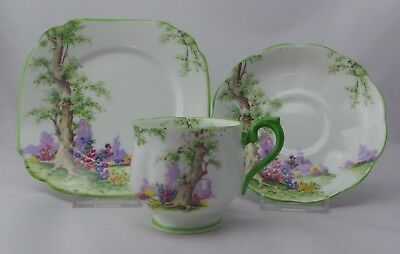 "Vintage Royal Albert ""Greenwood Tree"" Trio, Cup Saucer and Plate"