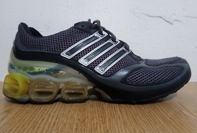 the best attitude a94b6 3c304 Mens Adidas Mega Bounce Running Shoes Black Graphite Yellow US 9