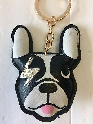 Boston Terrier Leather Look Key Chain/purse Charm