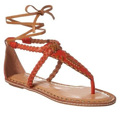 482468f3e5c76 A GIANNETTI BROWN Braided Leather Thong Sandals Size 7.5 -  19.99 ...