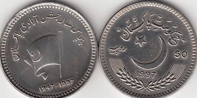 PAKISTAN 10 RUPEES  2008 BENAZIR COMM.1953-2007 BHUTTO COIN  KM69