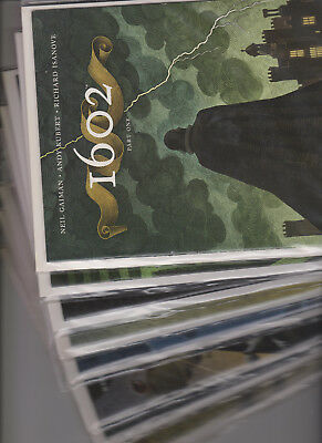 Marvel's 1602 (8 ISSUE MINI SERIES) 2003 by Neil Gaiman and Andy Kubert, NM/Mint