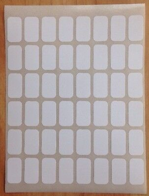 288 Small Sticky Labels White 9 X 16mm Price Stickers,Tags,Blank,Self Adhesive