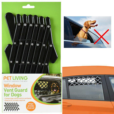 Window Vent Guard Mesh Dog Pet Travel Rear Car Universal Adjustable