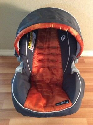Graco Click Connect 30 35 Baby Car Seat Cover Cushion Canopy Set Orange Gray