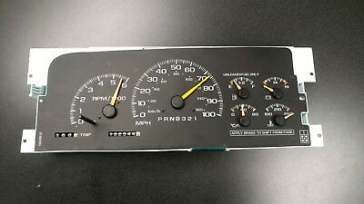 1999 Chevy instrument cluster