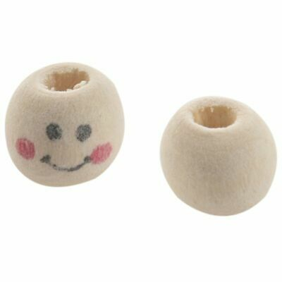 Wooden Round Face Loose Beads 10mm (Pack of Approx. 40pcs) X5Y5