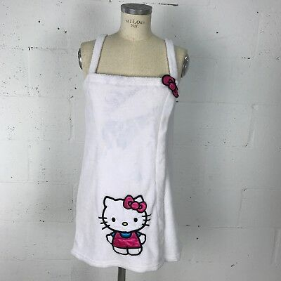 6c287fb2c Sanrio Hello Kitty Womens Sleepwear Size S White Closure Pink Bow Night Gown