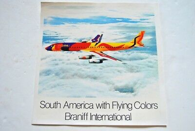 vintage original Calder poster for Braniff International