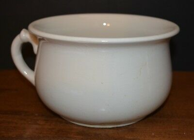 """Antique 1800s Ironstone Chamber Pot C.S. Co. AS-IS """"Extra Quality"""""""