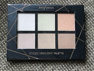 Profusion 6 Color Shimmer Studiio Highlight Palette New