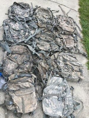 Lot Of 10 Genuine US Military Assault Packs ACU ..Free Shipping