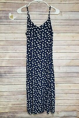 e601a7495 LIZ CLAIBORNE NAVY floral flower vintage button down collar spring ...