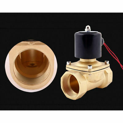 """DC 12V 1/2"""" Electric Solenoid Valve Water Air Fuels Gas EPDM NPT Brass US US"""