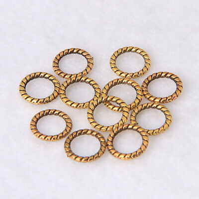 50/1000pcs Ancient Gold Closed Jump Ring Spacer Beads Jewelry Finding 8X1mm DIY