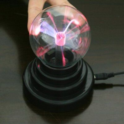 Sphere Lightning Magic crystal Ball With USB Cable Glass Plasma Ball T6F8