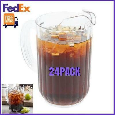 24 PACK 48 oz. Clear Plastic Beverage Pitcher Us FedEx Free Shipping
