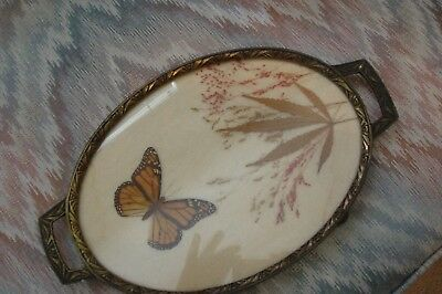 Antique BUTTERFLY Tray -