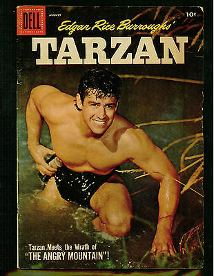 Tarzan # 95 -- Dell 1957 -- Edgar Rice Burroughs -- Gd/vg