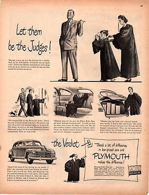 1948 Country Gentleman Magazine Advertisement Plymouth 1 Page A381