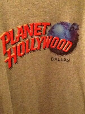 Dallas Planet Hollywood T-Shirt. Grey  Great Pre-owned Condition M-L lightweight