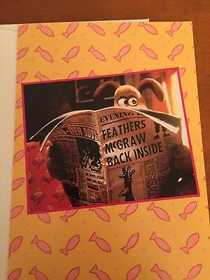 wallace and gromit- Greeting Card- What's New? - Rare