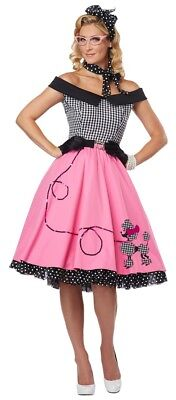 Nifty 50s Grease Sandy Poodle Rock N Roll Rockabilly Womans Costume