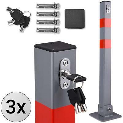 Steel Parking Lot Bollard Driveway Entrance Barrier Car Security Post Fold Down