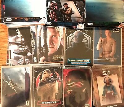 Huge Lot (214) Different 2016 Star Wars The Force Awakens Ii W/ Inserts Parallel