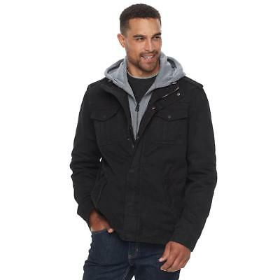 Levi's ~ Military Inspired Sherpa Lined Men's Hooded Utility Jacket $160 NWT