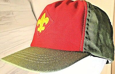 Boy Scouts of America Hat S / M Baseball Cap Snapback Green Red Adjustable USA