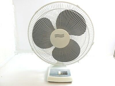 "16"" Super Deluxe Electric 3 Speed Oscillating Table Fan Model Chd-16"