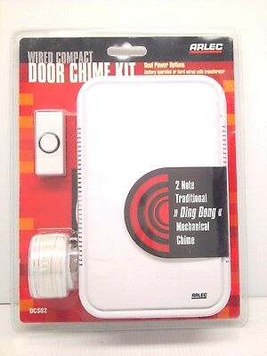 ARLEC Wired Compact Door Bell Chime Battery Operated