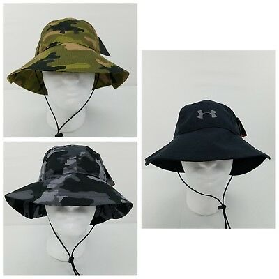 6a56a074830 UNDER ARMOUR AIRVENT Bucket Hat Hunting Fishing Headwear UA Black ...