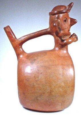 Pre-Columbian EARLY SALINAR FIGURAL VESSEL PERU EX: SOTHEBY '78