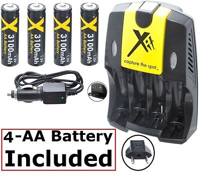 Ultra 4Aa Battery + Dual Charger For Kodak Easyshare Max Z990