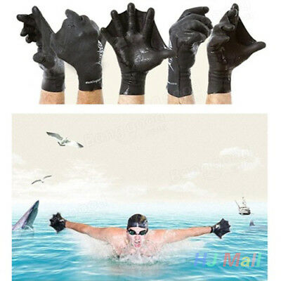 Swimming Diving Training Hand Flippers Finger Webbed Gloves Paddle Palm