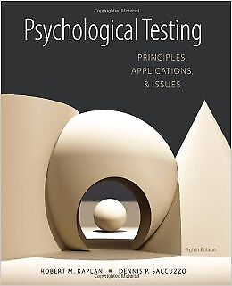 [PDF] Psychological Testing Principles, Applications, and Issues 8th Edition by