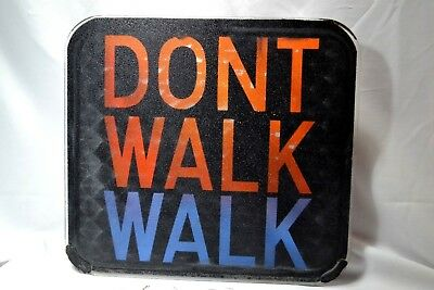 "used Walk Don't Walk ""Glass Only"" Sign Pedestrian Traffic Light 16 "" x 17 3/4"""