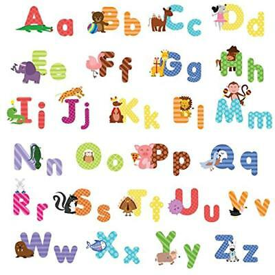 Kids Animal Alphabet Wall Decals: Cute Removable ABC Stickers Toddler Boys Girls