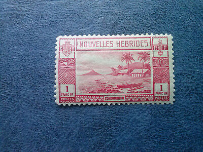 New  Hebrides  1938 Condominium 1 Franc Or  Mh