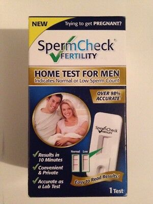 "SpermCheck Fertility Home Test for Men ""Results in 10 Minutes"" exp.03/31/2018"