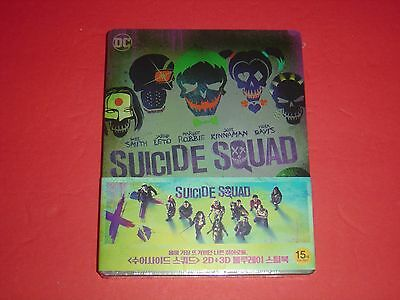 Suicide Squad 2D/3D 1/3 Slip Blu-Ray Steelbook Limited Edition from Korea