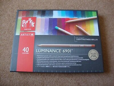 caran d'ache luminance 40 colored pencils (only 36 left) and blending stick