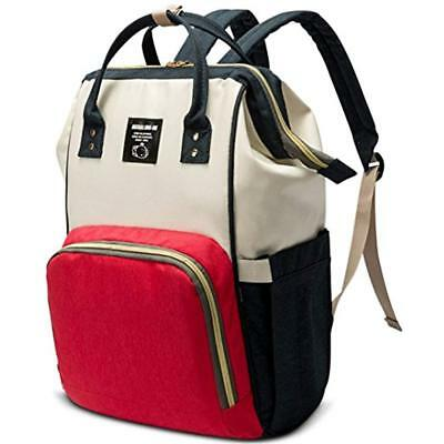 Diaper Bag Backpack Nappy Baby Boys Girls Mommy Tote- Designer Style-Wet Dry Dad