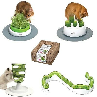 Catit Senses 2.0 Digger Grass Planter Wave Circuit Cat Grass Play Toy Fun Food