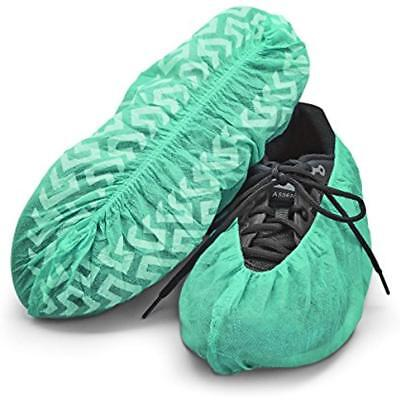 Disposable Boot Shoe Covers 120 Pack (Size 11 Less, Green)