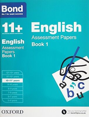 Bond 11+: English Assessment Papers 10-11+ Years - Book 1 | NEW