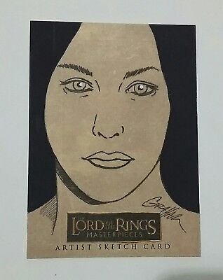 Masterpieces Lord Of The Rings Arwen 1/1 Kevin Graham Sketch Card